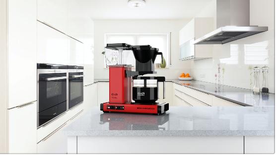 Moccamaster kaffetrakter, designfavoritt på kjøkkenbenken