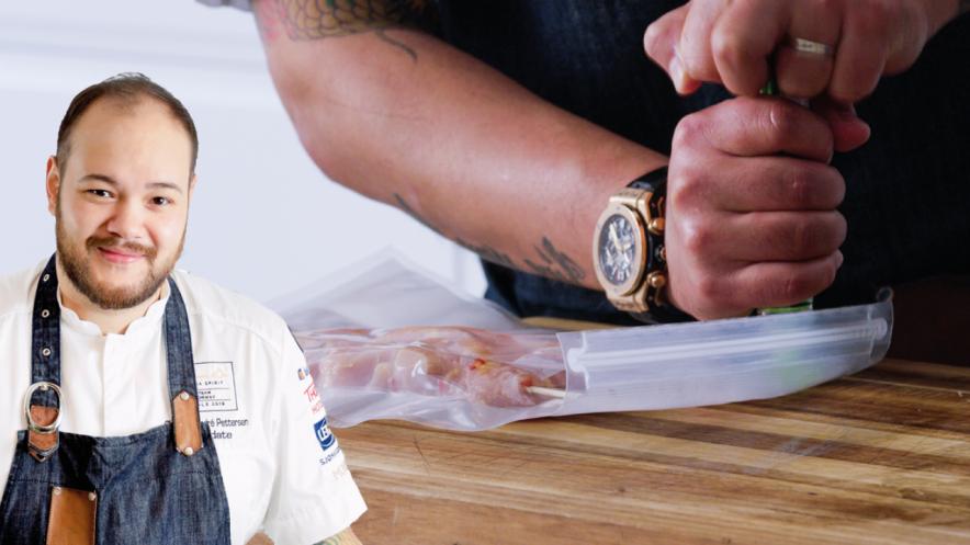 Middagstips: Marinert kyllingfilet på spyd