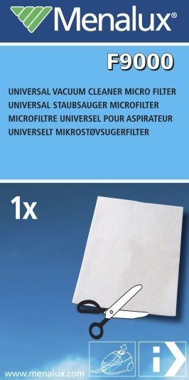 UNIVERSALFILTER TIL STØVSUGER F9000