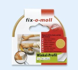 Fix-O-Moll Vinkellist Hvit 5M/20x20MM