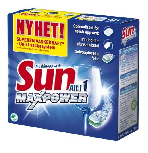 SUN MAX POWER OPPVASKTABLETT