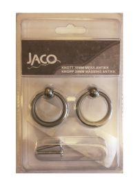 Jaco Knott 39mm messing antikk, 2 stk