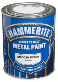 Hammerite Smooth Finish Hvit 750ML