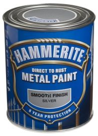 Hammerite Smooth Finish Sølvgrå 750ML
