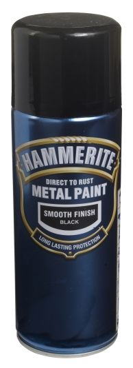 HAMMERITE 400ML SORT GLA 24115