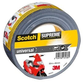 Scotch Lerretstape sort 50M 48MM