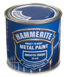 Hammerite Smooth Finish Blå 250ML