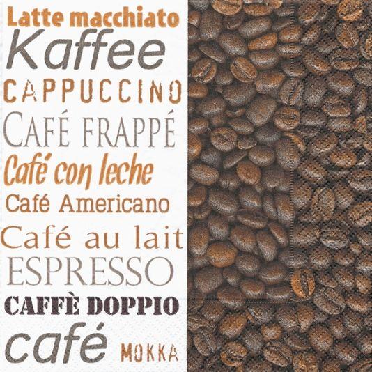 INVITE SERVIETT 33X33CM COFFEE