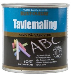 TAVLEMALING SORT MATT 250ML