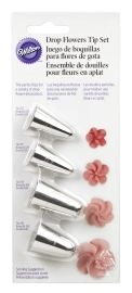 TIP SET, DROP FLOWER, 4 PC