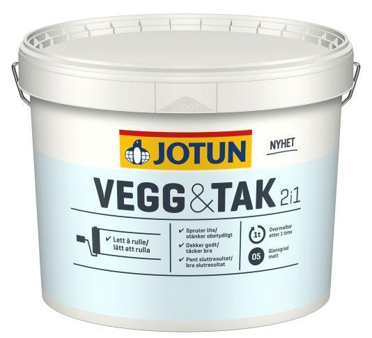JOTUN VEGG OG TAK HVIT / A-BASE 9L