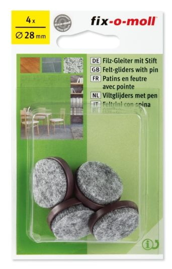 FILTKNOTT 30MM M/STIFT BRUN