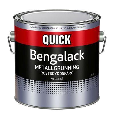 QUICK BENGALACK METALLGRUNNING 3L HVIT