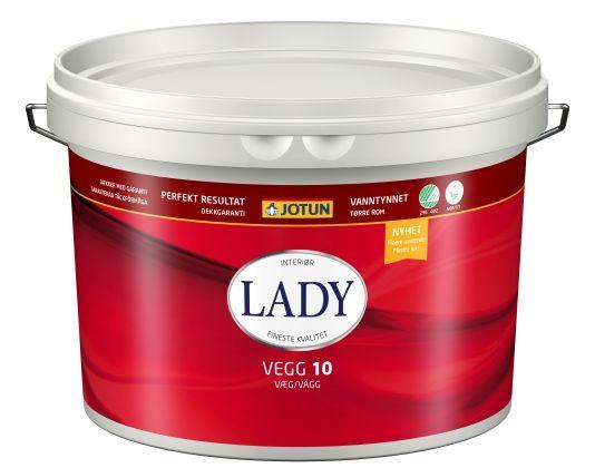 JOTUN LADY VEGG 10 HVIT NY 9L