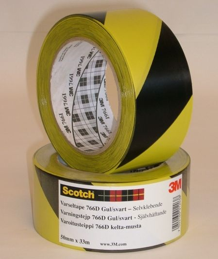 VARSELTAPE GUL/SORT SCOTCH