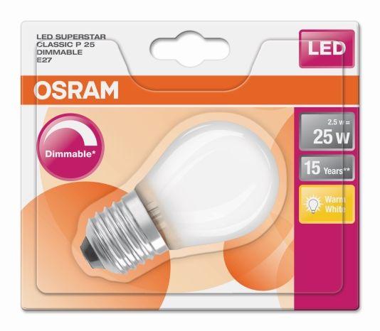 LED CLASSIC P25 MATT E27 DIMMBAR