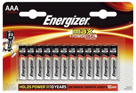 BATTERI MAX AAA 12PK ENERGIZER
