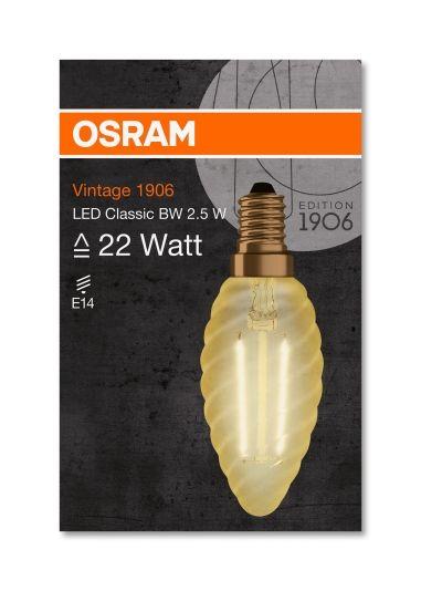 LYSPÆRE LED 2,5W GOLD E14 IKKE DIMMBAR