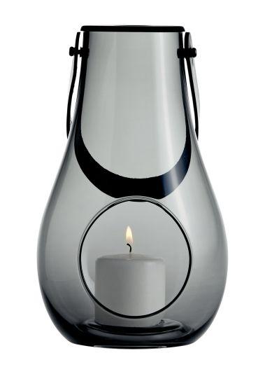 Svært HOLMEGAARD LYKT MED HANK DESIGN WITH LIGHT SMOKE 25CM - Lanterne PG-03