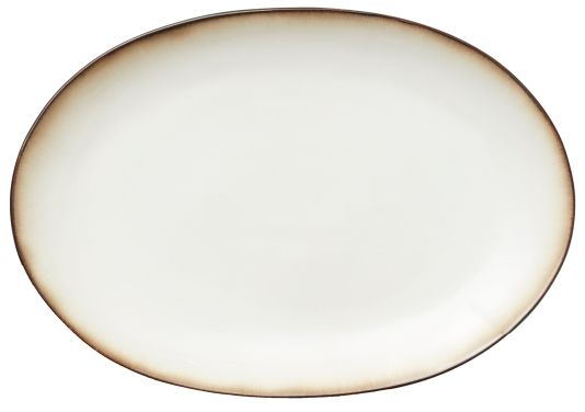 FAT OVAL 36X25 GRÅ/CREAM